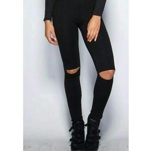 Pants - 🆕 Cutout Knee Leggings